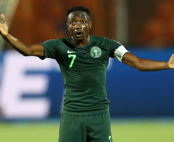 Ahmed Musa of Nigeria during the 2019 Africa Cup of Nations Finals, Semifinals match between Algeria and Nigeria at Cairo International Stadium, Cairo, Egypt on 14 July 2019 ©Samuel Shivambu/BackpagePix