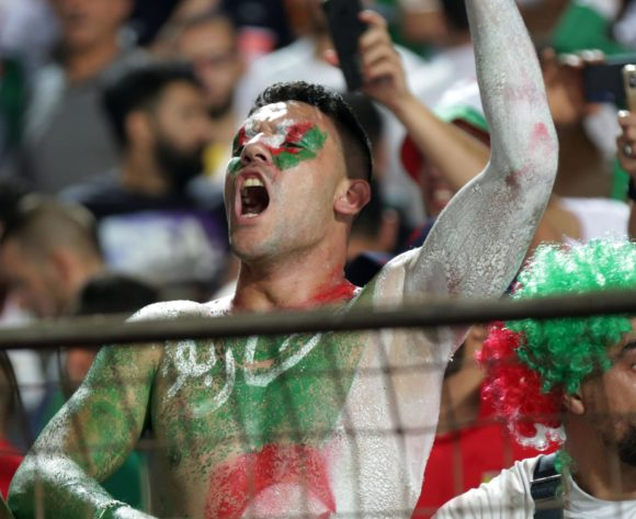 Algeria fans celebrates during the 2019 Africa Cup of Nations Finals, Semifinals match between Algeria and Nigeria at Cairo International Stadium, Cairo, Egypt on 14 July 2019 ©Samuel Shivambu/BackpagePix