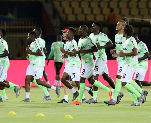 Nigeria players warming up during the 2019 Africa Cup of Nations 3rd and 4th Place match between Tunisia and Nigeria at the Al Salam Stadium, Cairo on the 17 July 2019 ©Muzi Ntombela/BackpagePix