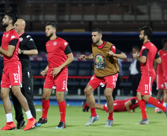 Tunisia players warming up during the 2019 Africa Cup of Nations 3rd and 4th Place match between Tunisia and Nigeria at the Al Salam Stadium, Cairo on the 17 July 2019 ©Muzi Ntombela/BackpagePix
