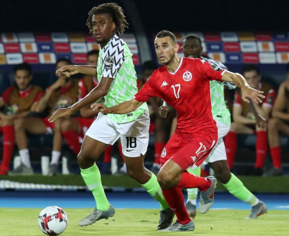 Ellyes Joris Skhiri of Tunisia challenged by Alexander Iwobi of Nigeria during the 2019 Africa Cup of Nations 3rd and 4th Place match between Tunisia and Nigeria at the Al Salam Stadium, Cairo on the 17 July 2019 ©Muzi Ntombela/BackpagePix