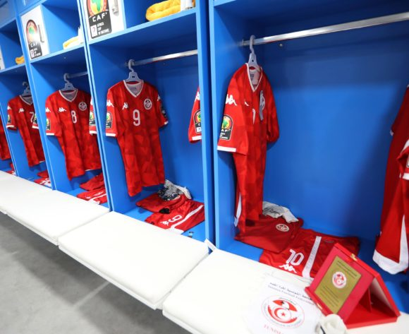 Tunisia changeroom general view during the 2019 Africa Cup of Nations Finals, 3rd and 4th place match between Tunisia and Nigeria at Al Salam Stadium, Cairo, Egypt on 17 July 2019 ©Samuel Shivambu/BackpagePix