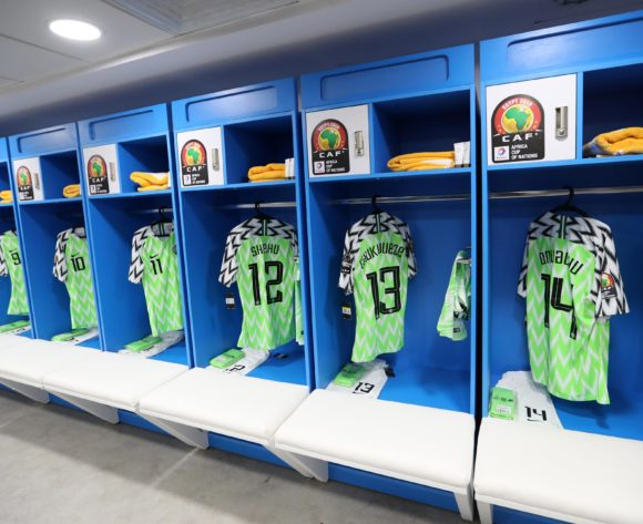 Nigeria changeroom general view during the 2019 Africa Cup of Nations Finals, 3rd and 4th place match between Tunisia and Nigeria at Al Salam Stadium, Cairo, Egypt on 17 July 2019 ©Samuel Shivambu/BackpagePix