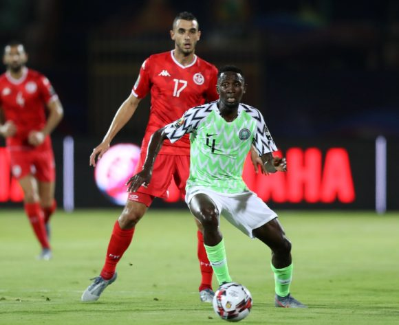 Wilfred Ndidi of Nigeria challenged by Ellyes Joris Skhiri of Tunisia during the 2019 Africa Cup of Nations Finals, 3rd and 4th place match between Tunisia and Nigeria at Al Salam Stadium, Cairo, Egypt on 17 July 2019 ©Samuel Shivambu/BackpagePix