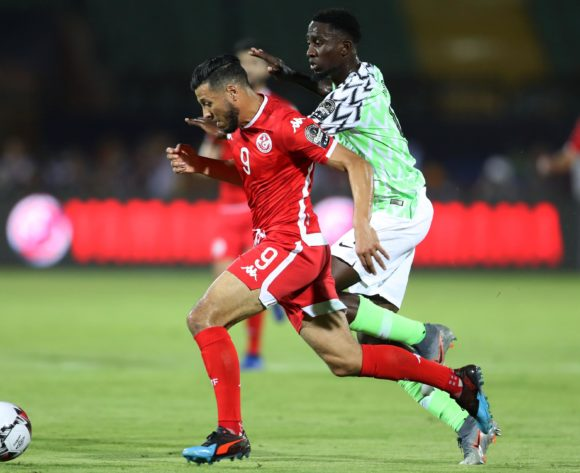 Anice Badri of Tunisia challenged by Wilfred Ndidi of Nigeria during the 2019 Africa Cup of Nations Finals, 3rd and 4th place match between Tunisia and Nigeria at Al Salam Stadium, Cairo, Egypt on 17 July 2019 ©Samuel Shivambu/BackpagePix
