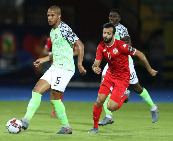 William Paul Ekong of Nigeria challenged by Taha Yassine Khenissi of Tunisia during the 2019 Africa Cup of Nations Finals, 3rd and 4th place match between Tunisia and Nigeria at Al Salam Stadium, Cairo, Egypt on 17 July 2019 ©Samuel Shivambu/BackpagePix