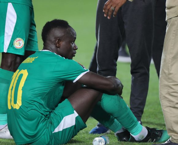 Sadio Mane of Senegal reacts in disappointment after defeat during the 2019 Africa Cup of Nations Finals Final football match between Senegal and Algeria at the Cairo International Stadium, Cairo, Egypt on 19 July 2019 ©Gavin Barker/BackpagePix