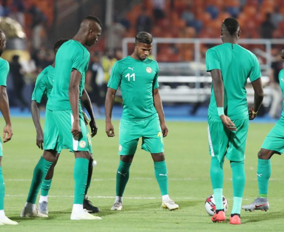 Senegal players warming up during the 2019 Africa Cup of Nations Final match between Senegal and Algeria at the Cairo International Stadium, Cairo on the 19 July 2019 ©Muzi Ntombela/BackpagePix