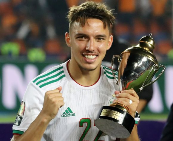 Ismael Bennacer of Algeria wins the best young player of the tournament during the 2019 Africa Cup of Nations Final match between Senegal and Algeria at the Cairo International Stadium, Cairo on the 19 July 2019 ©Muzi Ntombela/BackpagePix