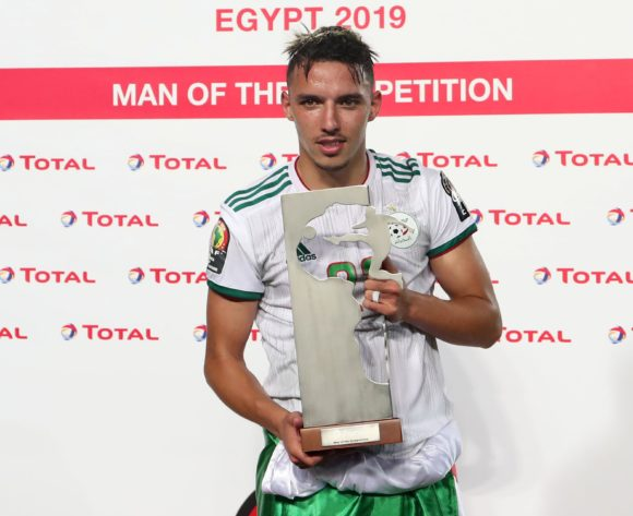 Ismael Bennacer of Algeria wins the TOTAL Man of the competition Award during the 2019 Africa Cup of Nations Final match between Senegal and Algeria at the Cairo International Stadium, Cairo on the 19 July 2019 ©Muzi Ntombela/BackpagePix