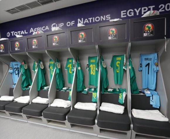 Senegal changeroom general view during the 2019 Africa Cup of Nations Finals, Final match between Senegal and Algeria at Cairo International Stadium, Cairo, Egypt on 19 July 2019 ©Samuel Shivambu/BackpagePix