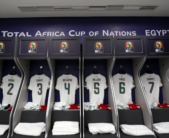 Algeria changeroom general view during the 2019 Africa Cup of Nations Finals, Final match between Senegal and Algeria at Cairo International Stadium, Cairo, Egypt on 19 July 2019 ©Samuel Shivambu/BackpagePix