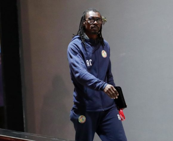 Aliou Cisse, head coach of Senegal arrives during the 2019 Africa Cup of Nations Finals, Final match between Senegal and Algeria at Cairo International Stadium, Cairo, Egypt on 19 July 2019 ©Samuel Shivambu/BackpagePix
