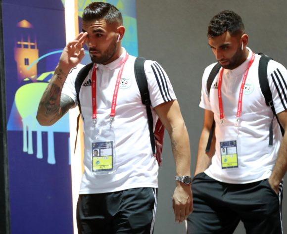 Algeria players arrives during the 2019 Africa Cup of Nations Finals, Final match between Senegal and Algeria at Cairo International Stadium, Cairo, Egypt on 19 July 2019 ©Samuel Shivambu/BackpagePix