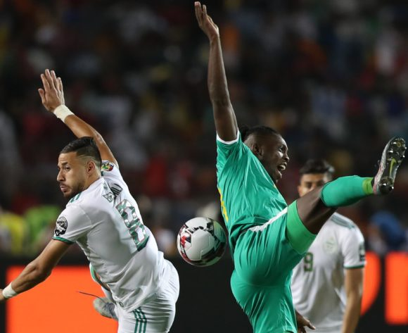 Lamine Gassama of Senegal challenged by Mohamed Belaili of Algeria during the 2019 Africa Cup of Nations Finals, Final match between Senegal and Algeria at Cairo International Stadium, Cairo, Egypt on 19 July 2019 ©Samuel Shivambu/BackpagePix