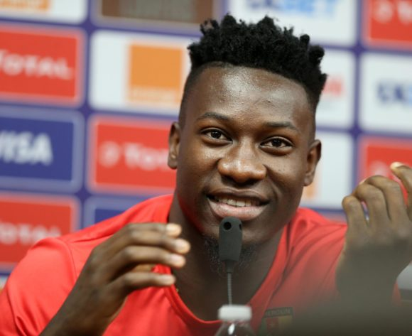 Andre Onana addresses media during the 2019 Africa Cup of Nations Cameroon Press Conference at the Alexandria Stadium, Alexandria on the 05 July 2019 ©Guy Suffo/BackpagePix