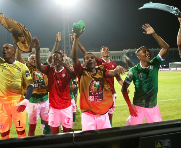 Madagascar player celebrate win during the 2019 Africa Cup of Nations Last 16 match between Madagascar and DR Congo at the Alexandria Stadium, Alexandria on the 07 July 2019 ©Alain Guy Suffo/BackpagePix