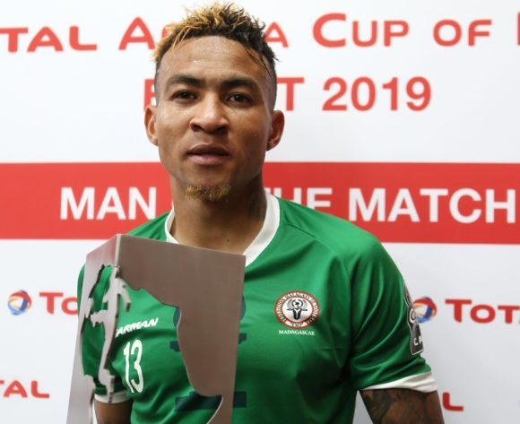 Anicet Andrianantenaina of Madagascar wins Total Man of the Match Award during the 2019 Africa Cup of Nations Last 16 match between Madagascar and DR Congo at the Alexandria Stadium, Alexandria on the 07 July 2019 ©Alain Guy Suffo/BackpagePix