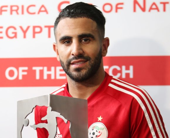 Riyad Mahrez of Algeria Man of the Match during the Africa Cup of Nations 2019 Finals Semifinals between Algeria and Nigeria at the Cairo International Stadium, Cairo, Egypt on 14 July ©Guy Suffo/BackpagePix
