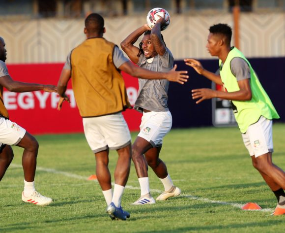 Sessi Dalmeida (c) during the 2019 Africa Cup of Nations Finals Benin training session in Cairo, Egypt on 04 July 2019 ©Gavin Barker/BackpagePix