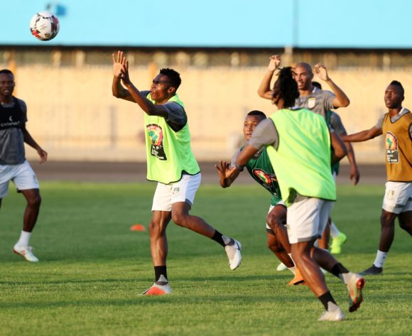 Rodrigue Fassinou (l) during the 2019 Africa Cup of Nations Finals Benin training session in Cairo, Egypt on 04 July 2019 ©Gavin Barker/BackpagePix