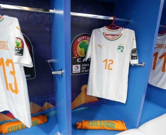Ivory Coast changeroom general view during the 2019 Africa Cup of Nations Finals last 16 match between Mali and Ivory Coast at Suez Stadium, Suez, Egypt on 08 July 2019 ©Samuel Shivambu/BackpagePix