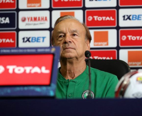 Gernot Rohr, head coach of Nigeria during the 2019 Africa Cup of Nations Finals, semifinals Nigeria press conference at Cairo International Stadium, Cairo, Egypt on 13 July 2019 ©Samuel Shivambu/BackpagePix