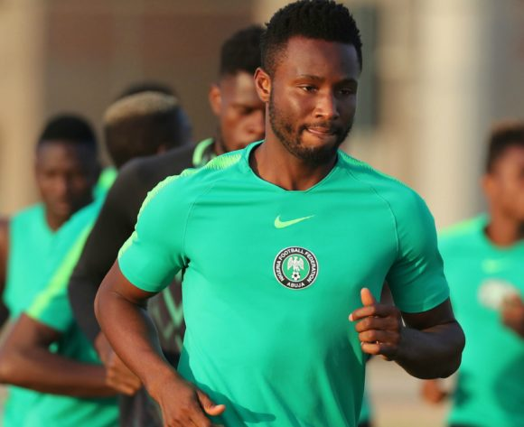 John Obi Mikel  (c) during the 2019 Africa Cup of Nations Finals Nigeria training session at the Aero Sports Complex, Cairo, Egypt on 13 July 2019 ©Gavin Barker/BackpagePix