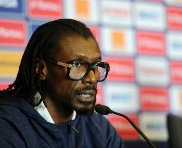 Aliou Cisse, head coach of Senegal during the Africa Cup of Nations 2019 Finals semifinal press conference for Senegal at 30 June Stadium in Cairo, Egypt on 13 July 2019 © Ryan Wilkisky/BackpagePix