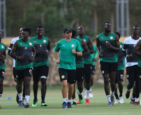 Senegal players during the 2019 Africa Cup of Nations Finals, semifinals Senegal training at 30 June Stadium Annex, Cairo, Egypt on 13 July 2019 ©Samuel Shivambu/BackpagePix