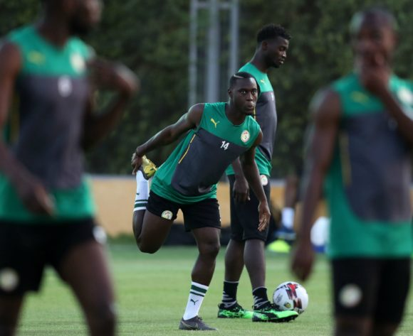 Henri Saivet of Senegal during the 2019 Africa Cup of Nations Finals, semifinals Senegal training at 30 June Stadium Annex, Cairo, Egypt on 13 July 2019 ©Samuel Shivambu/BackpagePix