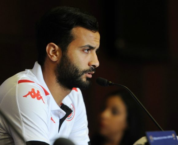 Taha Yassine Khenissi of Tunisia during the Africa Cup of Nations 2019 Finals semifinal press conference for Tunisia at 30 June Stadium in Cairo, Egypt on 13 July 2019 © Ryan Wilkisky/BackpagePix