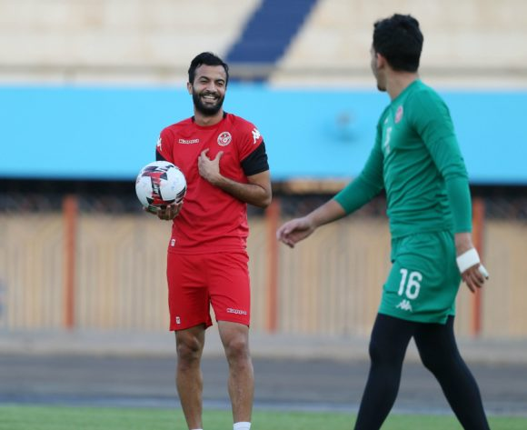 Taha Yassine Khenissi of Tunisia during the 2019 Africa Cup of Nations Finals Tunisia training session at the El Shams Sports Complex, Cairo, Egypt on 13 July 2019 ©Alain Suffo/BackpagePix