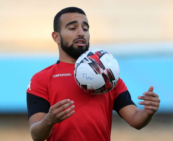 Sliti Naim during the 2019 Africa Cup of Nations Finals Tunisia training session at the El Shams Sports Complex, Cairo, Egypt on 13 July 2019 ©Alain Suffo/BackpagePix