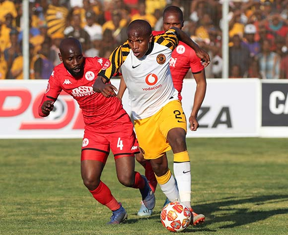 Lebogang Manyama of Kaizer Chiefs challenged by Makhehleni Makhaula of Highlands Park during the Absa Premiership 2019/20 football match between Highlands Park and Kaizer Chiefs at Makhulong Stadium, Tembisa on 04 August 2019 ©Gavin Barker/BackpagePix