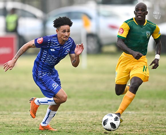 Daylon Claasen of Maritzburg United is chased down by Siyabonga Dube of Lamontville Golden Arrows during the Absa Premiership 2019/20 football match between Golden Arrows and Maritzburg United at Sugar Ray Xulu Stadium, Durban on 04 August 2019 © Gerhard Duraan/BackpagePix