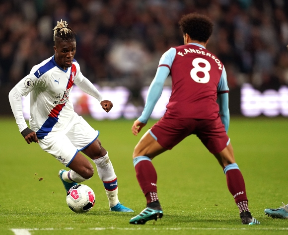 Zaha denies spitting at West Ham's Rice