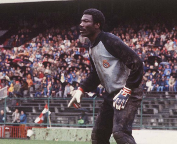 Espanyol legend Thomas N'Kono, the inspiration of generations of African and LaLiga keepers… and Gigi Buffon