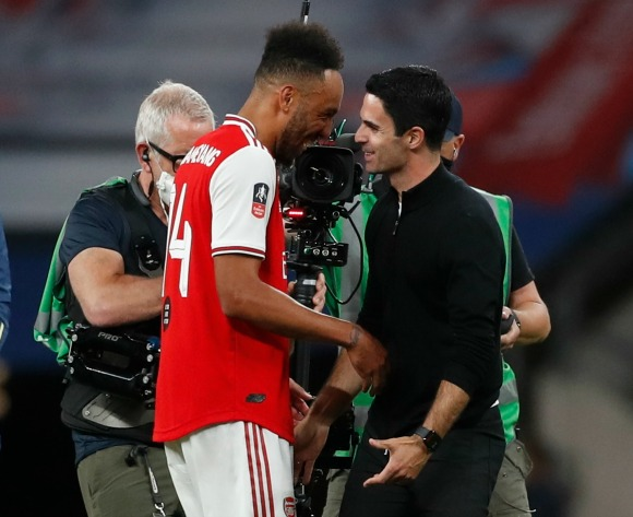 Arteta: Man City win could convince Aubameyang to stay